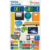 Making The Grade Dimensional Stickers-Sixth Grade