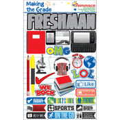 Making The Grade Dimensional Stickers-Freshman