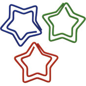 Baumgartens Paper Clips Carded-Star Shaped 20/Pkg Wholesale Bulk