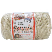 Bonnie Macrame Craft Cord 6mm 100 Yards-Pearl (Bei
