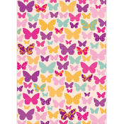 Kaisercraft Wrapping Paper 19.5'X27'-Butterflies Wholesale Bulk