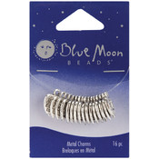 Blue Moon Plated Metal Dangle Charms-Silver