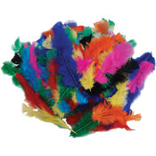 Fluffy Marabou Feathers 34 Grams-Assorted Colors