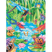Pencil Works Color By Number Kit 9&quot;X12&quot;-Frog Pond