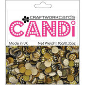 Craftwork Cards Candi Dot Embellishments .35 oz-Coffee Bean Wholesale Bulk