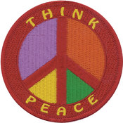 Tees & Novelties Patches For Everyone Iron-On Appliques-Think Peace Wholesale Bulk