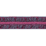 "Metallic Stretch Elastic 1"" Wide 8 Yards-Fuchsia"