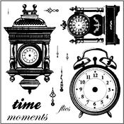 "Clear Photopolymer Stamps 4""X4""-Time After Time"