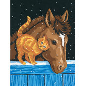 Learn To Paint! Paint By Number Kit 9&quot;X12&quot;-Pony An