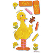 Sesame Street Dimensional Sticker-Big Bird