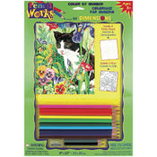 Pencil Works Color By Number Kit 9&quot;X12&quot;-Kitty In F