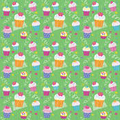 Unique Industries Printed Gift Wrap 30' Wide-Cupcake Party Wholesale Bulk