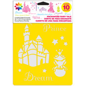 Delta Stencil Mania Stencils 7'X10' 3/Pkg-Enchanted Fair Wholesale Bulk
