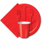 Beverage Napkins 9-7/8&quot;X7-7/8&quot; 50/Pkg-Classic Red