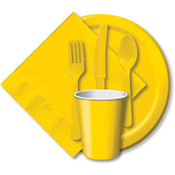 "Paper Dinner Plates 9"" 24/Pkg-School Bus Yellow"