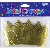 Creative Expressions Mini Crowns 6/Pkg-Gold Wholesale Bulk