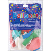 Creative Expressions Balloons Round 9' 20/Pkg-Assorted Colors Wholesale Bulk
