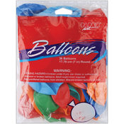 Creative Expressions Balloons Round 7' 36/Pkg-Assorted Colors Wholesale Bulk