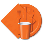 "Paper Dinner Plates 9"" 24/Pkg-Sunkissed Orange"