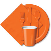 Paper Hot &amp;amp; Cold Cups 9 Ounces -Sunkissed Orange