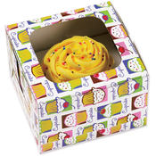Cupcake Boxes 3/Pkg - Holds 1-Cupcake Heaven Wholesale Bulk