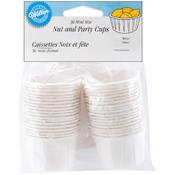 Mini Nut & Party Cups-White 36/Pkg 1.25 Oz. Wholesale Bulk