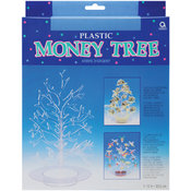 "Money Tree 12""-Clear Plastic"