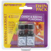 Candy & Baking Flavoring .125 Ounce Bottle 2/Pkg-B