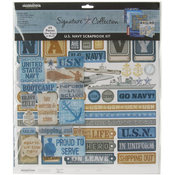 Creative Imaginations Signature Collection Page Kit 12'X12'-Navy Wholesale Bulk