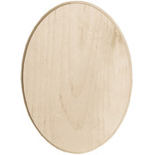 "Baltic Birch Oval Plaque-5""X7"""