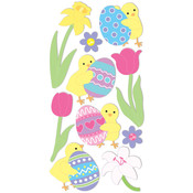Dimensional Stickers -Easter Chicks/Eggs/Flowers