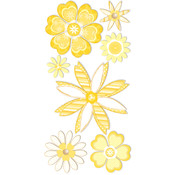 Dimensional Stickers -Yellow&White Flowers