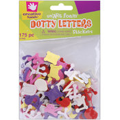 Foam Stickers 175/Pkg-Dotty Letters Wholesale Bulk