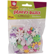 Foam Stickers 100/Pkg-Groovy Daisies Wholesale Bulk