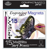 Compact Art Kits-Engraving Art Magnets-Fairy Princ