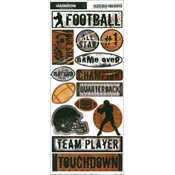 Creative Imaginations Sports Xtreme Stickers 5.5'X12' Sheet-Football Wholesale Bulk
