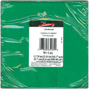 Luncheon Napkins 12-7/8&quot;X12-3/4&quot; 50/Pkg-Emerald Gr