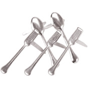 Eyelet Outlet Brads-Utensil 12/Pkg Wholesale Bulk