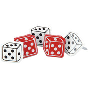 Eyelet Outlet Brads-Dice 12/Pkg Wholesale Bulk