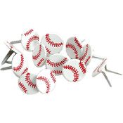 Eyelet Outlet Brads-Baseball 12/Pkg Wholesale Bulk