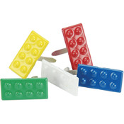 Eyelet Outlet Brads-Building Blocks Mix 12/Pkg Wholesale Bulk
