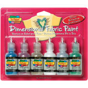 Duncan Scribbles Dimensional Fabric Paint 1 Ounce 6/Pkg-G Wholesale Bulk