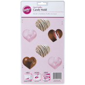 Candy Mold-Heart Truffles 6 Cavity Wholesale Bulk
