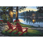 Paint By Number Kit 20&quot;X14&quot;-Adirondack Evening