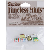 Timeless Miniatures-Assorted Beer Cans 6/Pkg Wholesale Bulk