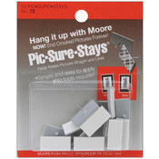 Self-Adhesive Pic-Sure-Stays Picture Hangers 12/Pk
