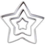 Fondant Cut-Outs 3/Pkg-Star Wholesale Bulk