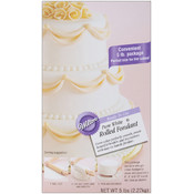 Ready-To-Use Rolled Fondant 5 Pounds-Pure White Wholesale Bulk