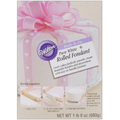 Ready-To-Use Rolled Fondant 1.5 Pounds-Pure White Wholesale Bulk