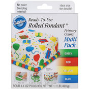 Ready-To-Use Rolled Fondant 4.4 Ounces 4/Pkg-Prima Wholesale Bulk